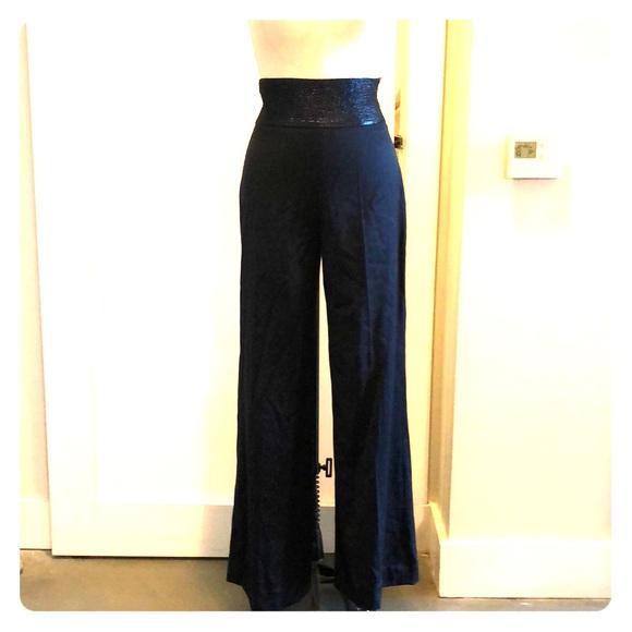 29565d452b Oscar de la Renta Pants | Wide Leg Silk High Waist | Poshmark
